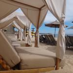 Villa's roped off beach chairs.
