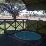 plunge pool on tent deck