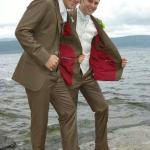 Groom and his best man..Suits by Ginos.