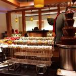 the chocolate fountain....