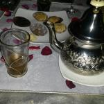 Mint tea & morrocan pastries at the riad