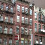 View from the street- typical iron fire escapes help you remember NYC