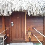 entrance to our hut