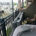 Happy hour on the private balcony.