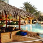 Abu Dhabi Hilton Swim Up Pool Bar