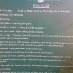 The pool rules: too much information is a warning sign of something