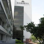 View of the Dorsett building from the pool area