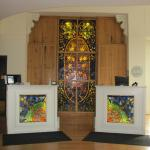 Reception with stained glass