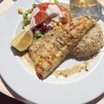 Sea bass at the hotels restaurant