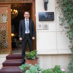 Mr Murat, Manager at entrance to hotel