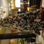 Fully lite lobby Christmas Tree