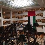 The hotel with great UAE flag for 43 anniversary of the country