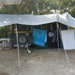 Our huge camp site