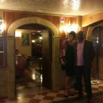In the Antico lobby dressed for diner with Mi Amore