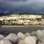 Looking back at hotel with Funchal above