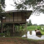 One of the villas on stilts