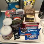 Part of the mini-bar selection
