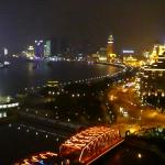 View of The Bund at night from a room on the executive floor