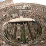 Birds eye view of the Colosseum
