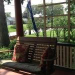 Guests LOVE the front porch swing!