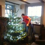 Looking forward to Christmas at wipers as Gary puts up the Christmas tree!