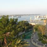 Looking towards Luxor Temple along the Nile