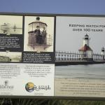 the sign posted at the pier, interesting facts