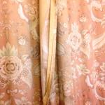 Lining torn from curtain