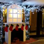 Reception area Christmas decorations