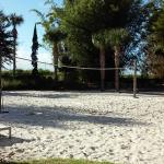 Volleyball court near pool