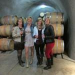 Inside tunnel at First Winery