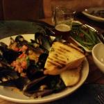 Absolutely amazing mussels cooked in brisk from white wine (meal for two). Instantly my favorite