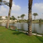 Lakeside walk with views over golf course