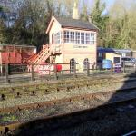 Highley Train Station behind the Hotel