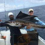 Clifford and Larry with Larry's Sailfish