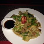 Spicy beef and ginger stir fry
