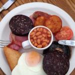 You only get one black pudding in their traditional breakfast mind. You also get toast which isn