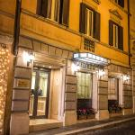 Exterior evening of Hotel Barocco