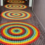 No monotone carpeting in our hallway