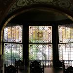 Tiffany glass in student dining hall