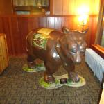 The bear in the lobby