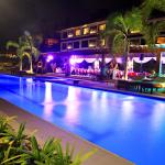 Tropika swimming pool with colour-changing pool lights