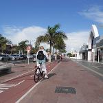Main Shopping strip [showing cycle lane]