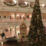 Beautiful Christmas Display at the main hotel