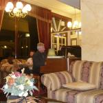 Relaxing with a pianist in the hotel's bar and lounge after dinner