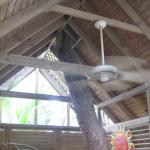 fan in hot tub hut