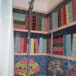 The library mosaic in the shower