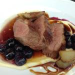 Duck breast with blueberry preserve & beurre blanc