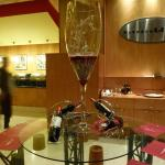 Glass Display in the Breakfast Area
