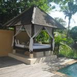 Awesome private gazebo outside our villa